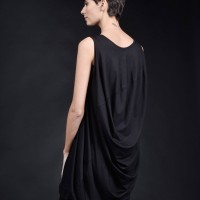 Sleeveless Maxi Draped Tunic Top A90404