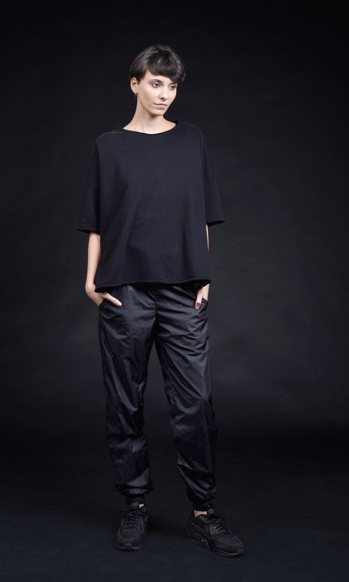 Short sleeve crop top blouse A12793