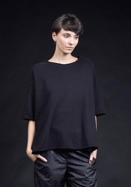 Short sleeve crop top blouse A90405