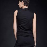 Asymmetric Sleeveless draped top A90425