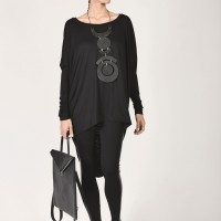Loose Viscose Tunic A01053
