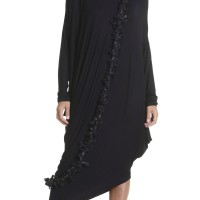 Tunics - Oversize Black Raglan Long Sleeves Tunic A02044