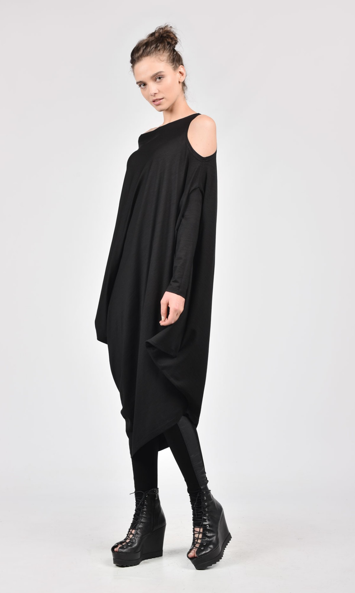 Oversize Black Loose Casual Top A02122