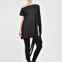 Oversize Black Casual Top A02207