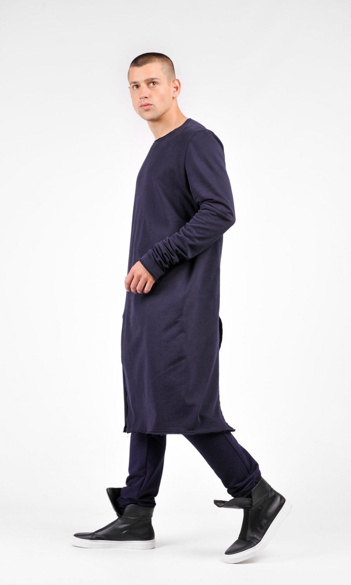 Asymmetric Sweatshirt Maxi Tunic A02235M