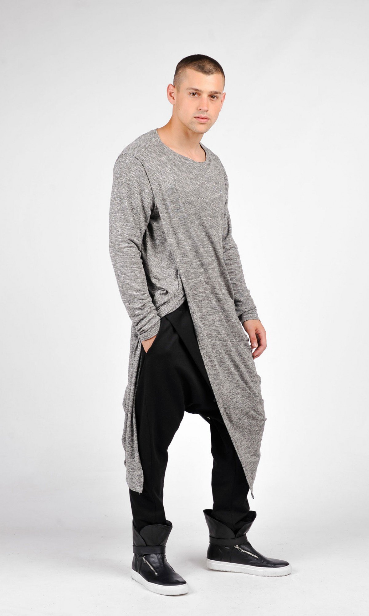 Grey Soft Shirt A02241M