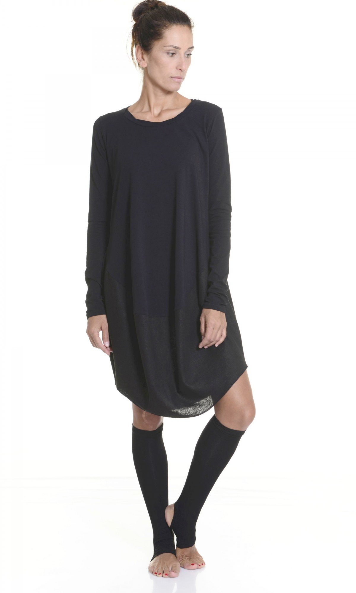 Oversize Black Loose Casual Tunic A02546