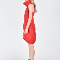 Sexy Red Tunic Dress A03492
