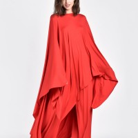 Maxi oversized caped tunic A90065