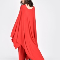 Maxi oversized caped tunic A02670