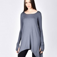 Elegant Loose Tunic with long sleeves A90214