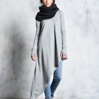 Elegant Loose  Knitted Tunic with long sleeves A90419