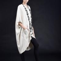 Long  midi sleeves linen tunic A90414