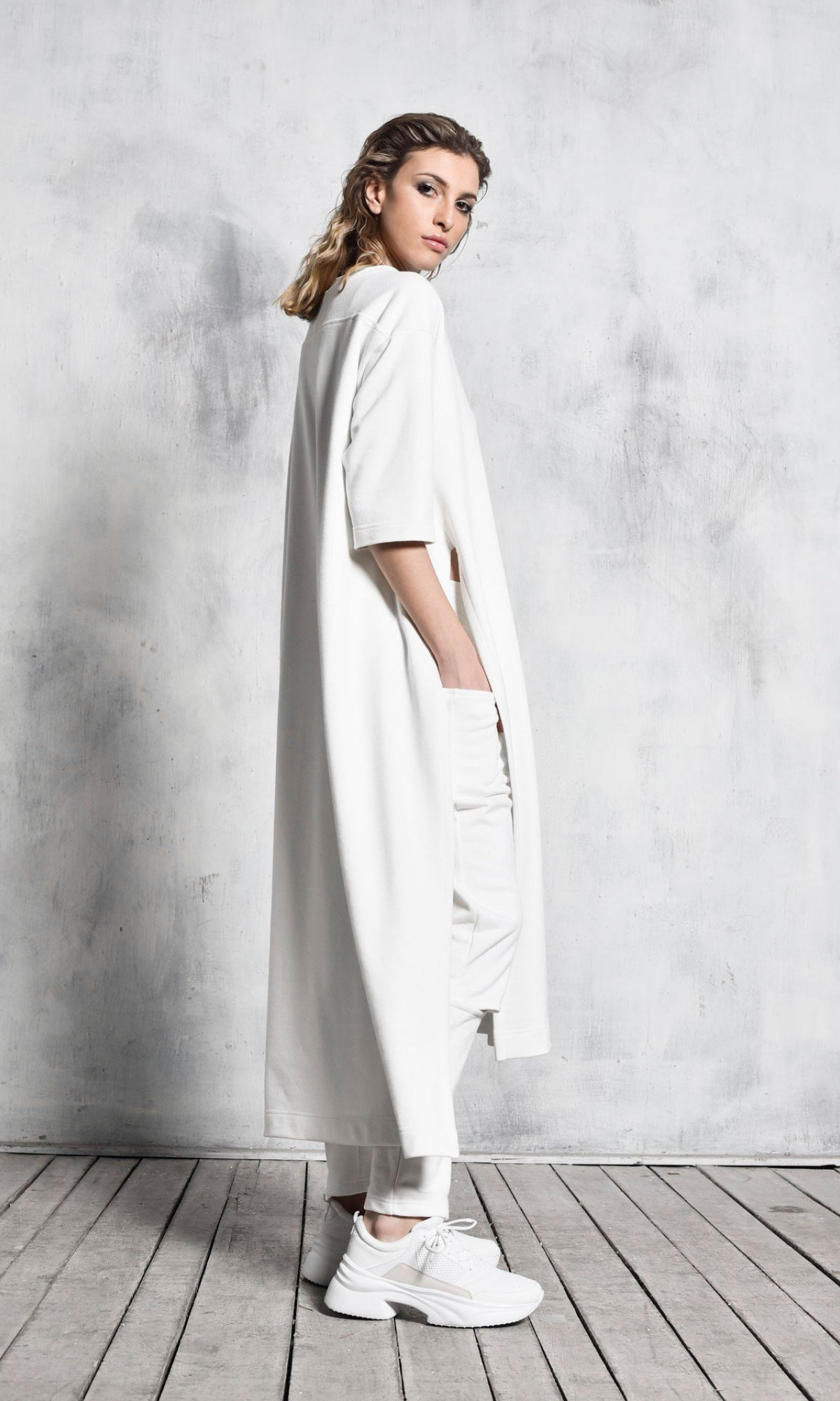 Extravagant Asymmetric  Side slits Tunic A90417