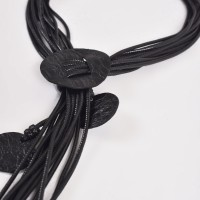 Trendy Leather Adjustable Necklace A90370