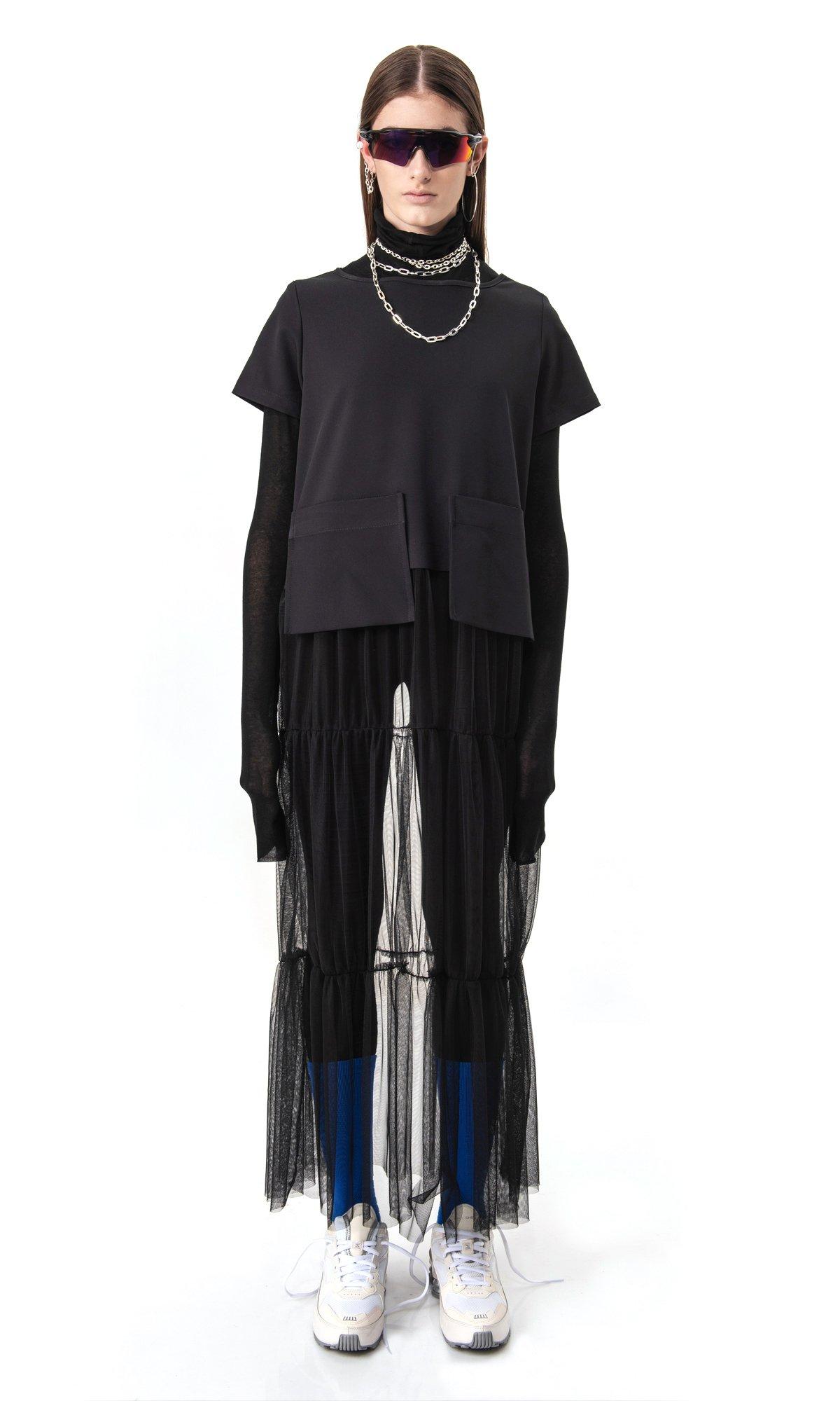 Extravagant Short Sleeve Tulle dress A90497
