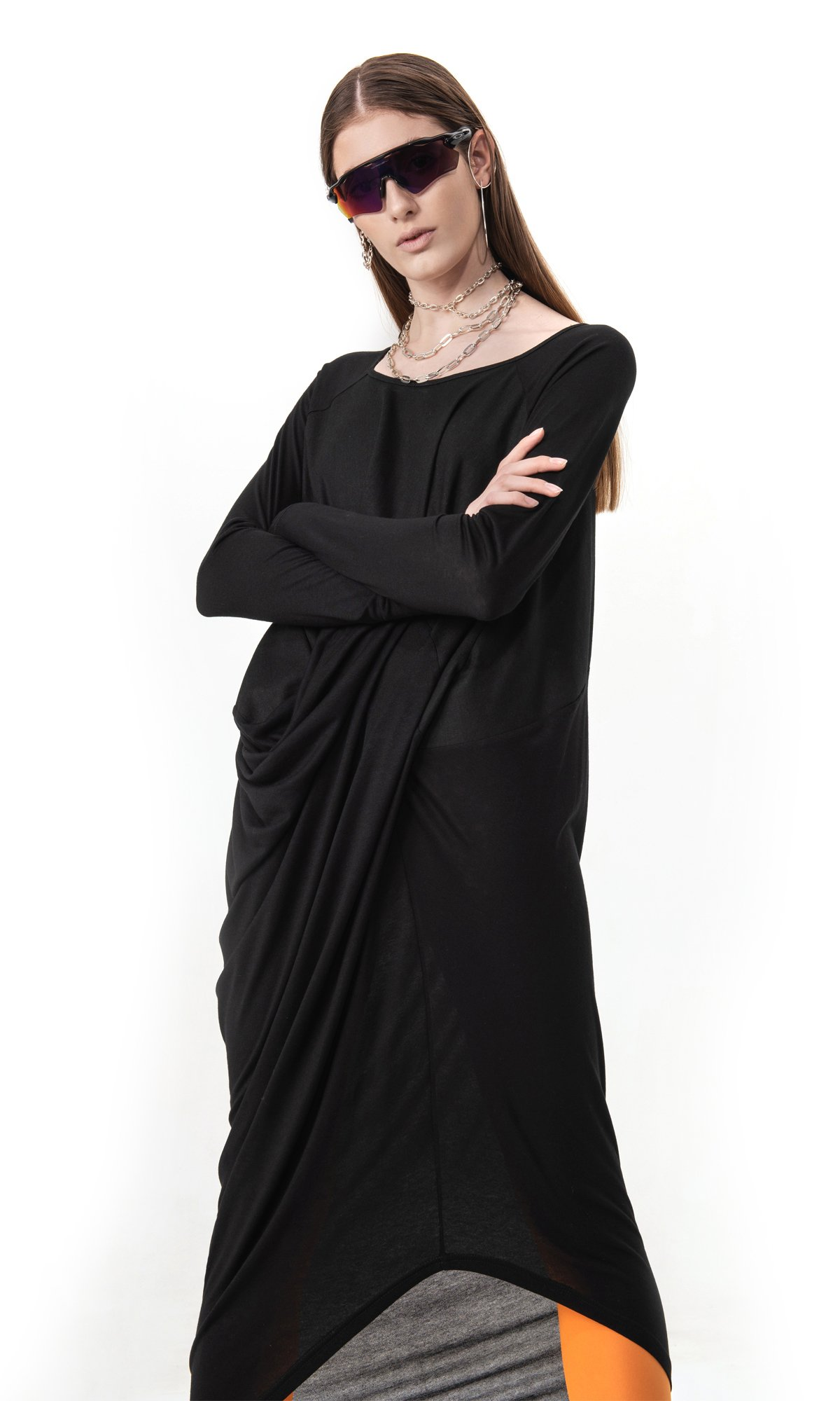 Elegant Long Sleeve Tunic Dress
