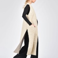Winter Ivory Wool Sleeveless Vest A02174