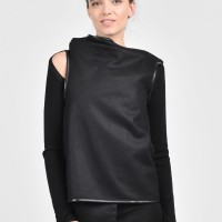 Black Cashmere Sleeveless Top A06112