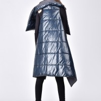 Quilted Asymmetric  Jacket A20675