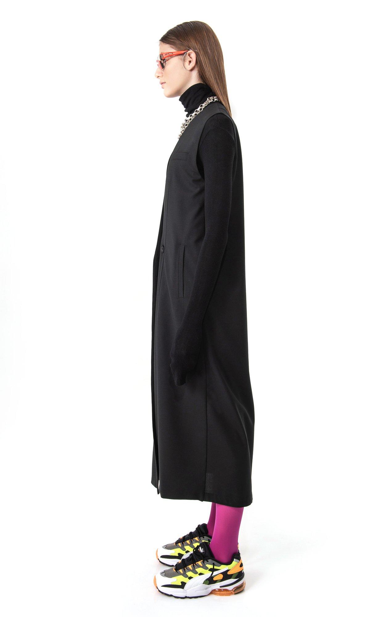 Extra Long Sleeveless Blazer