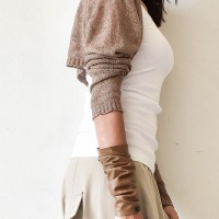Knitted Long Sleeve Bolero/Shrug A90307