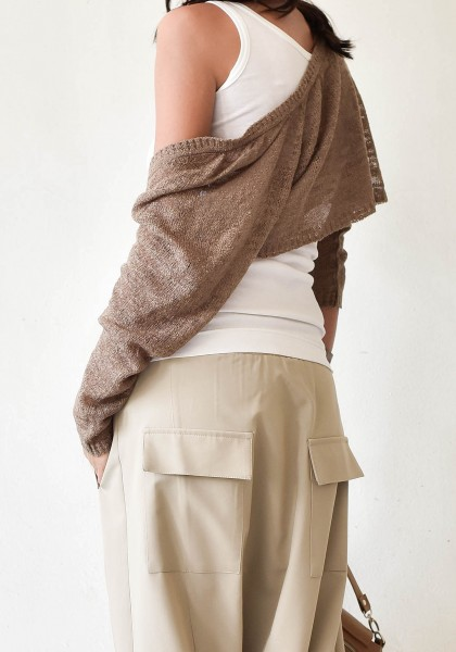 Knitted Long Sleeve Bolero/Shrug A90307