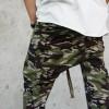 Loose Casual Drop Crotch 7/8 Military Pants A05567M