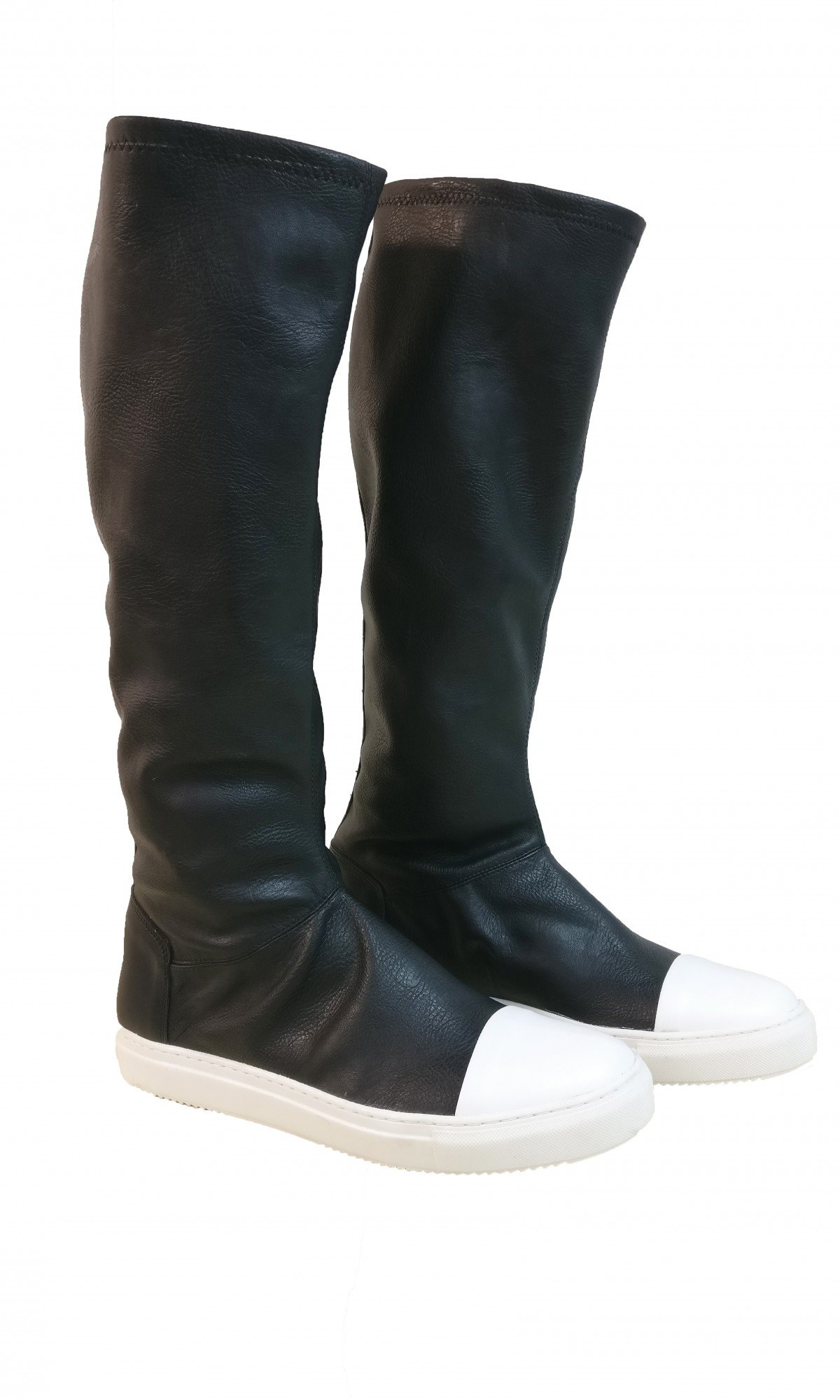 Genuine Leather High Elastic Boots A21490M