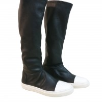 Footwear - Genuine Leather High Elastic Boots A21490M