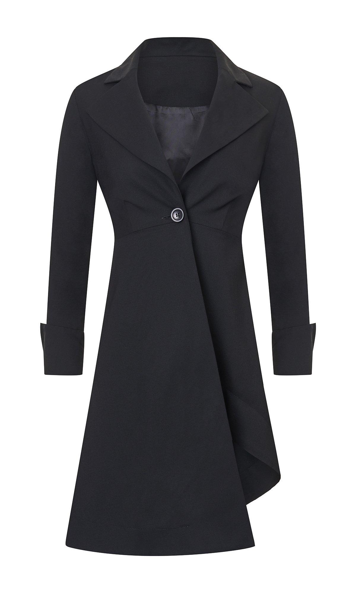 Asymmetric Buttoned Blazer