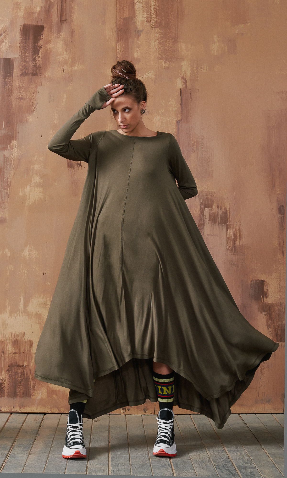 Relaxed Shape Maxi Dress