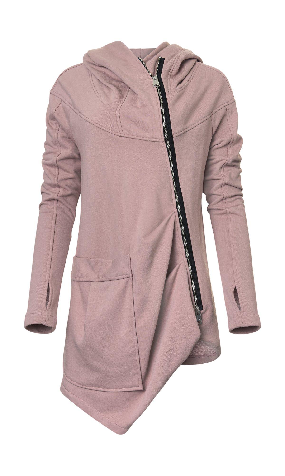 Light Asymmetric Hooded Sweatshirt