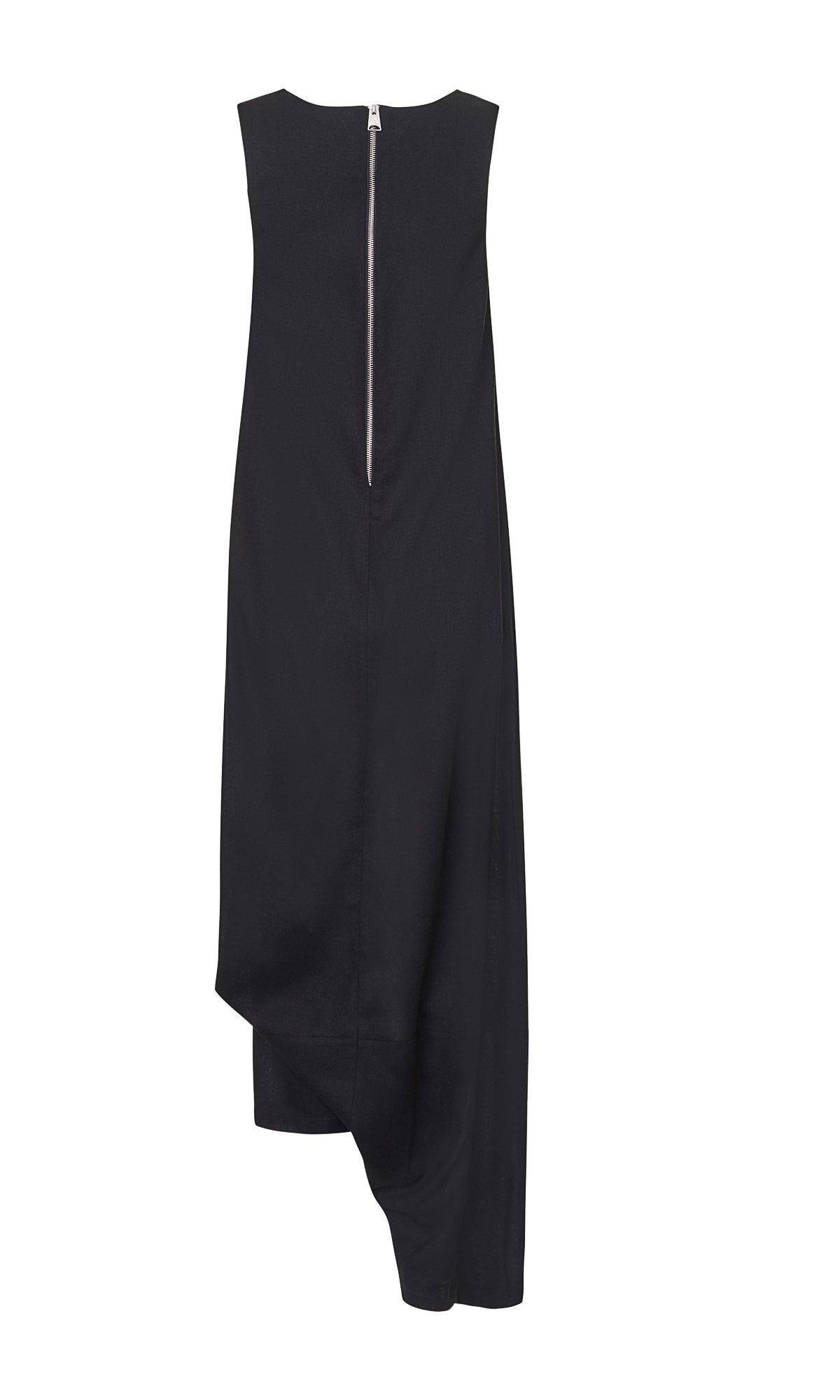 Asymmetric Drop Crotch Jumpsuit