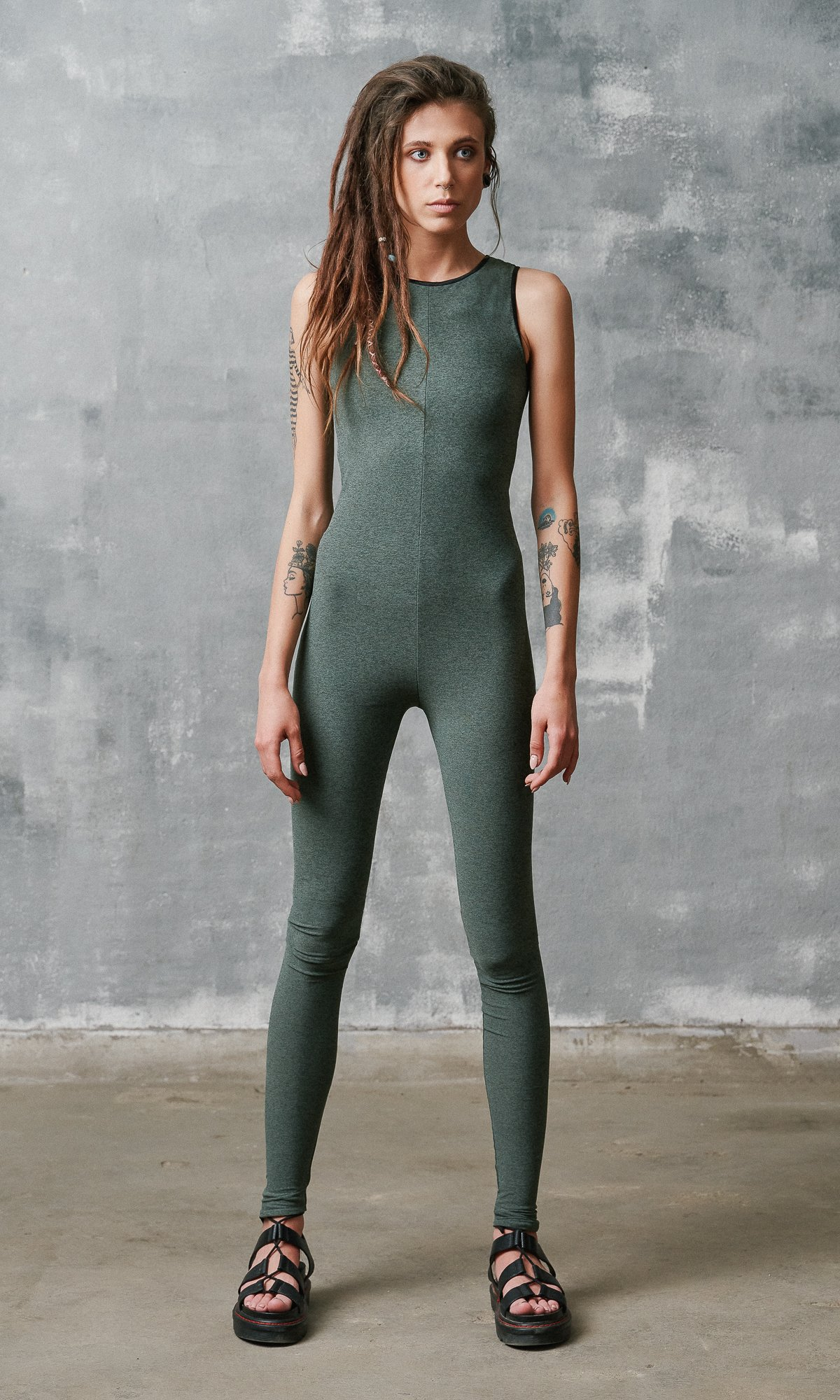Tight Fitting Sleeveless Jumpsuit