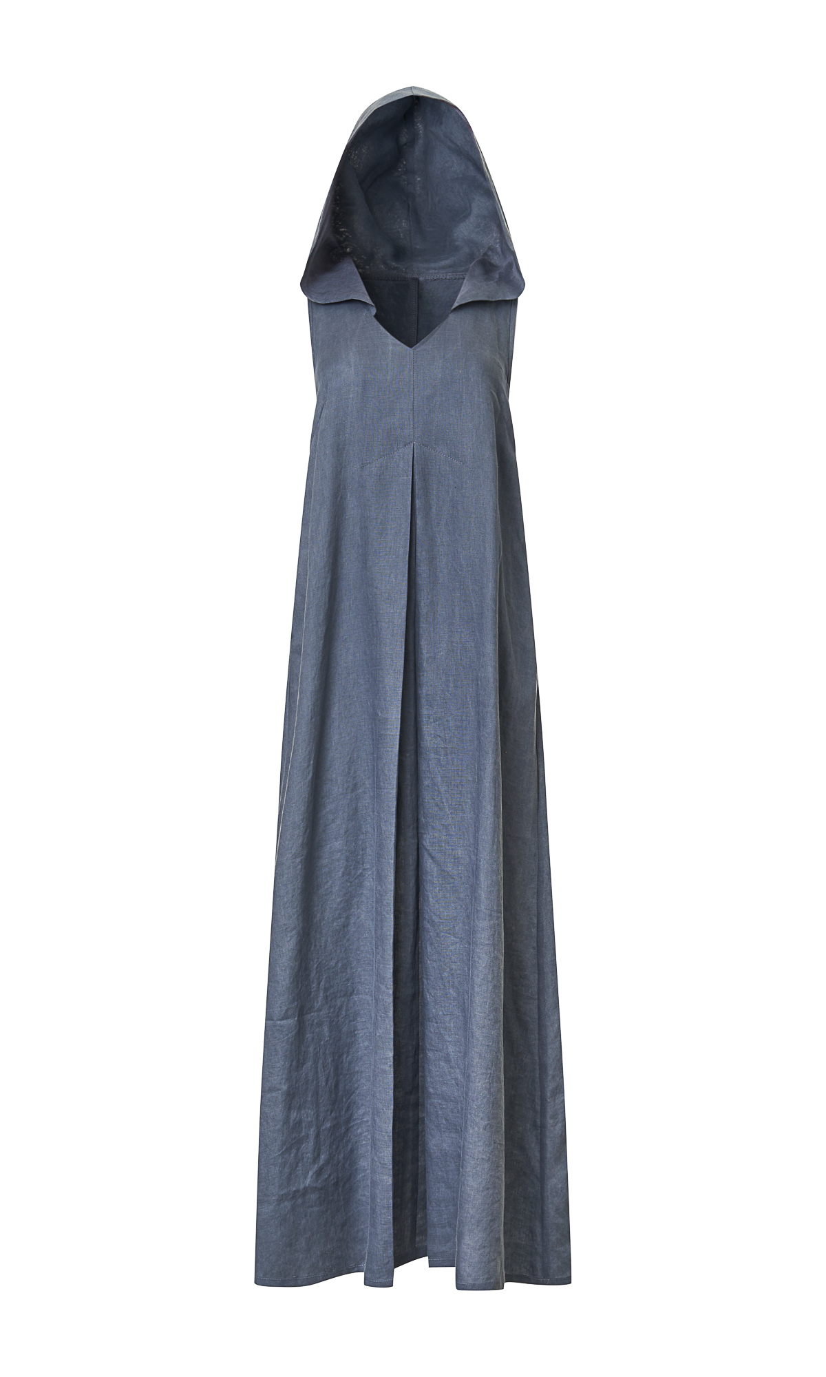 Inverted Pleat Maxi Dress