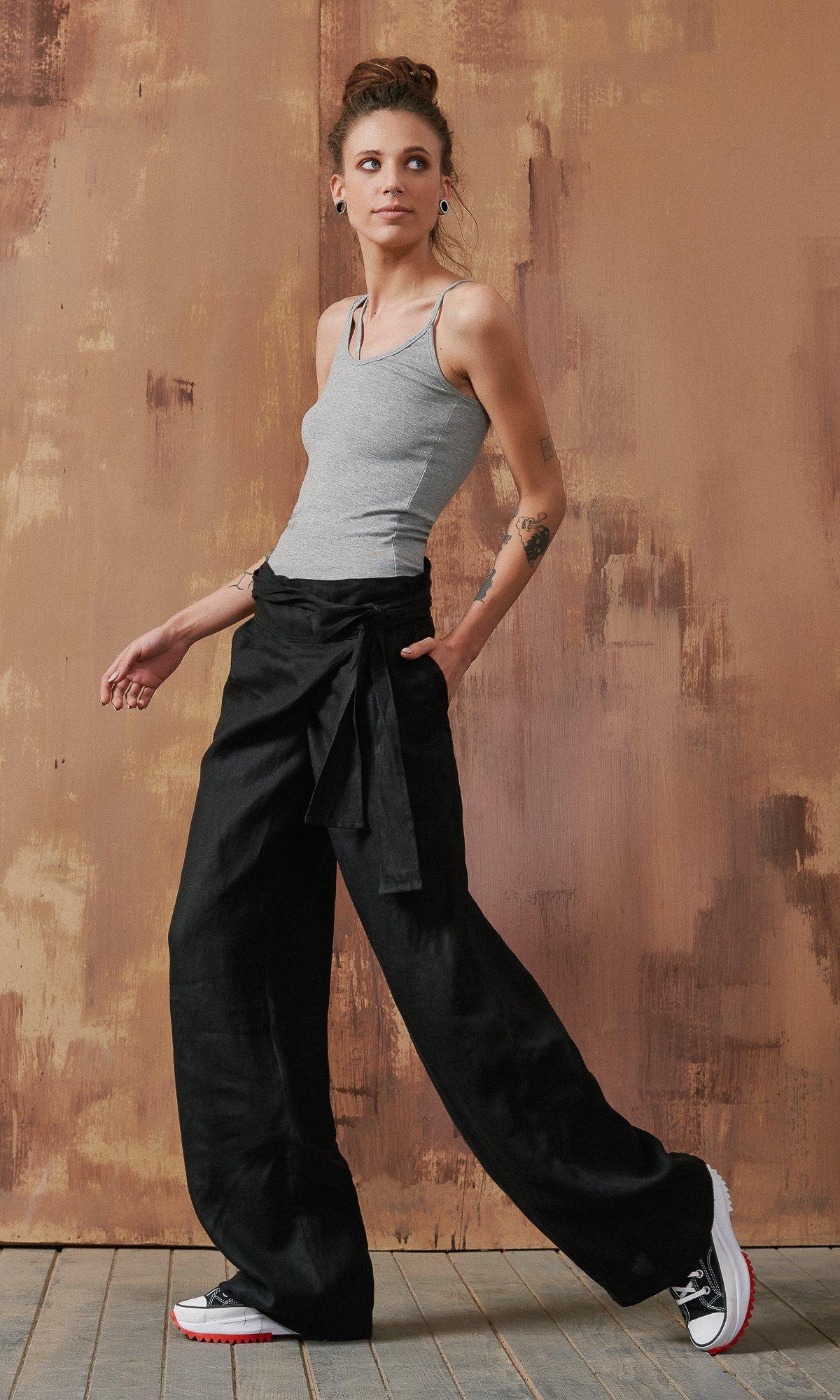Linen Wrap Pants