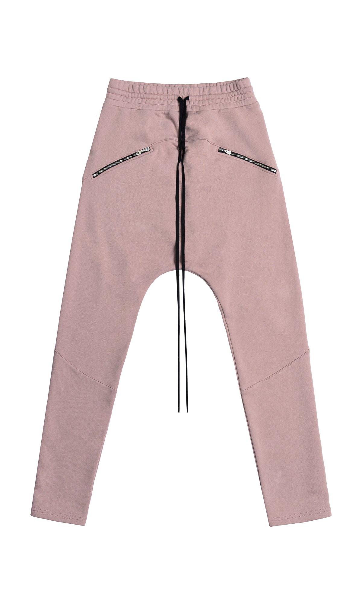 Drop Crotch Pants With Zipper Pockets