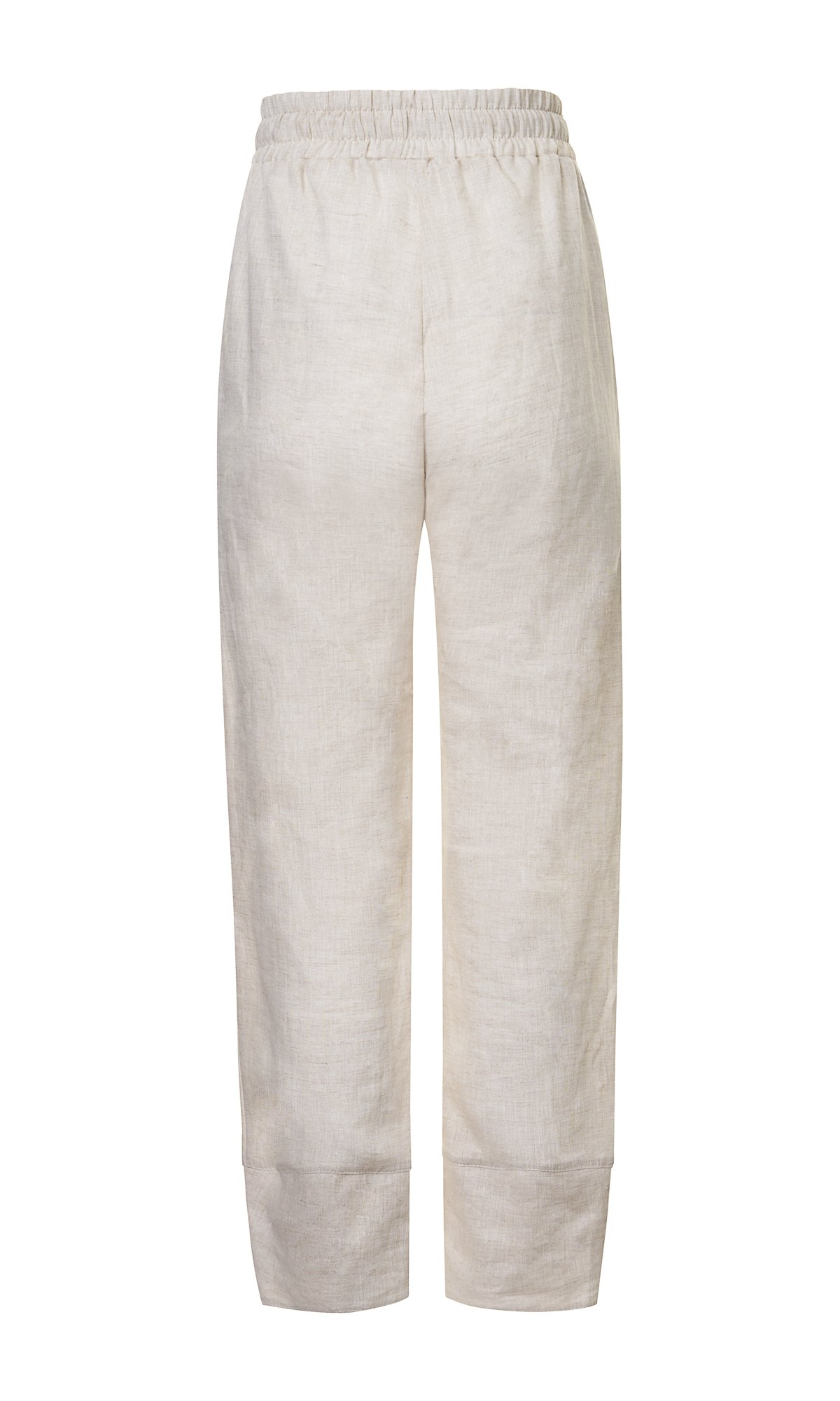 Linen Pants with Wide Ankle Cuffs