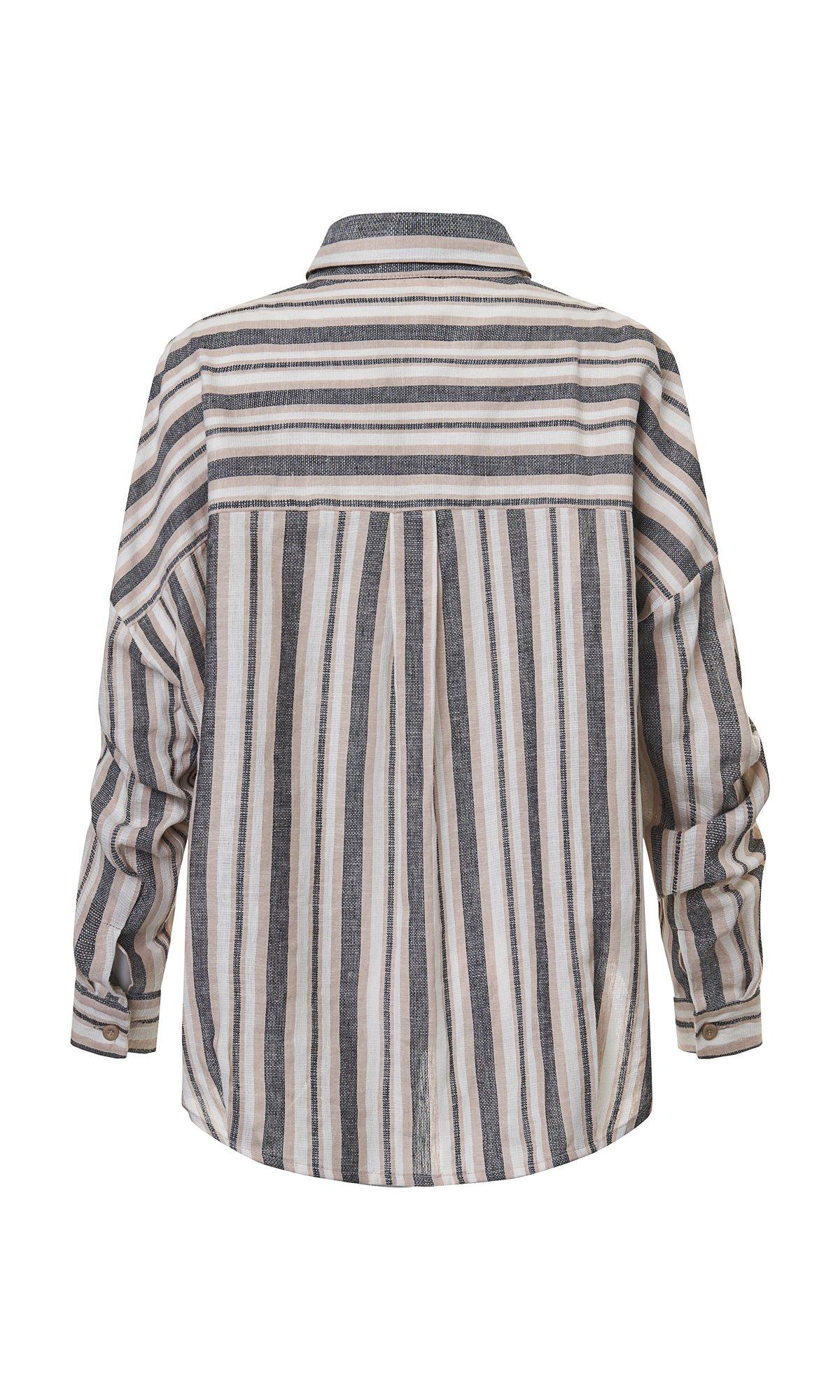 Oversized Striped Linen Shirt