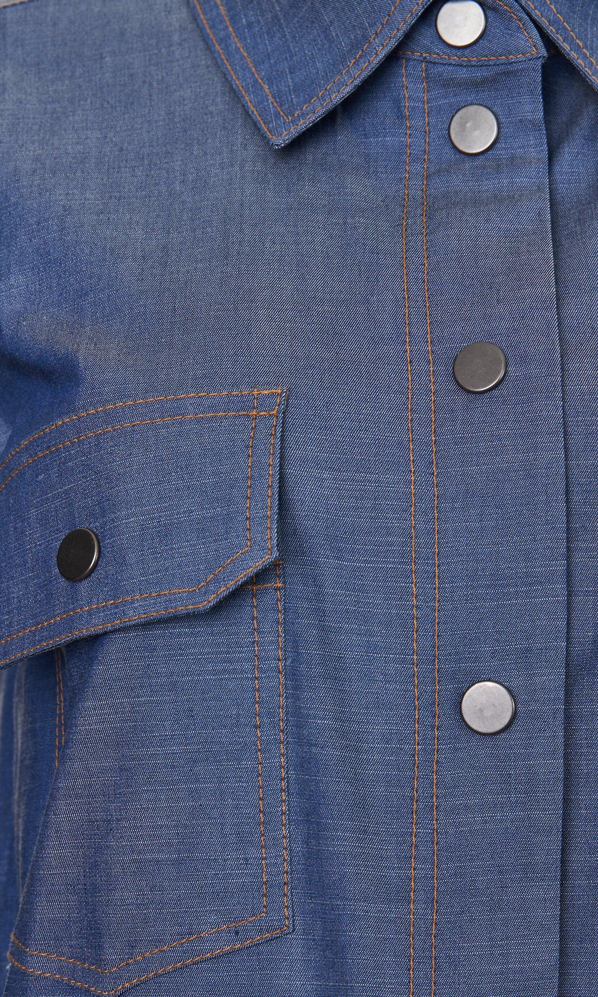 Asymmetric Chambray Shirt