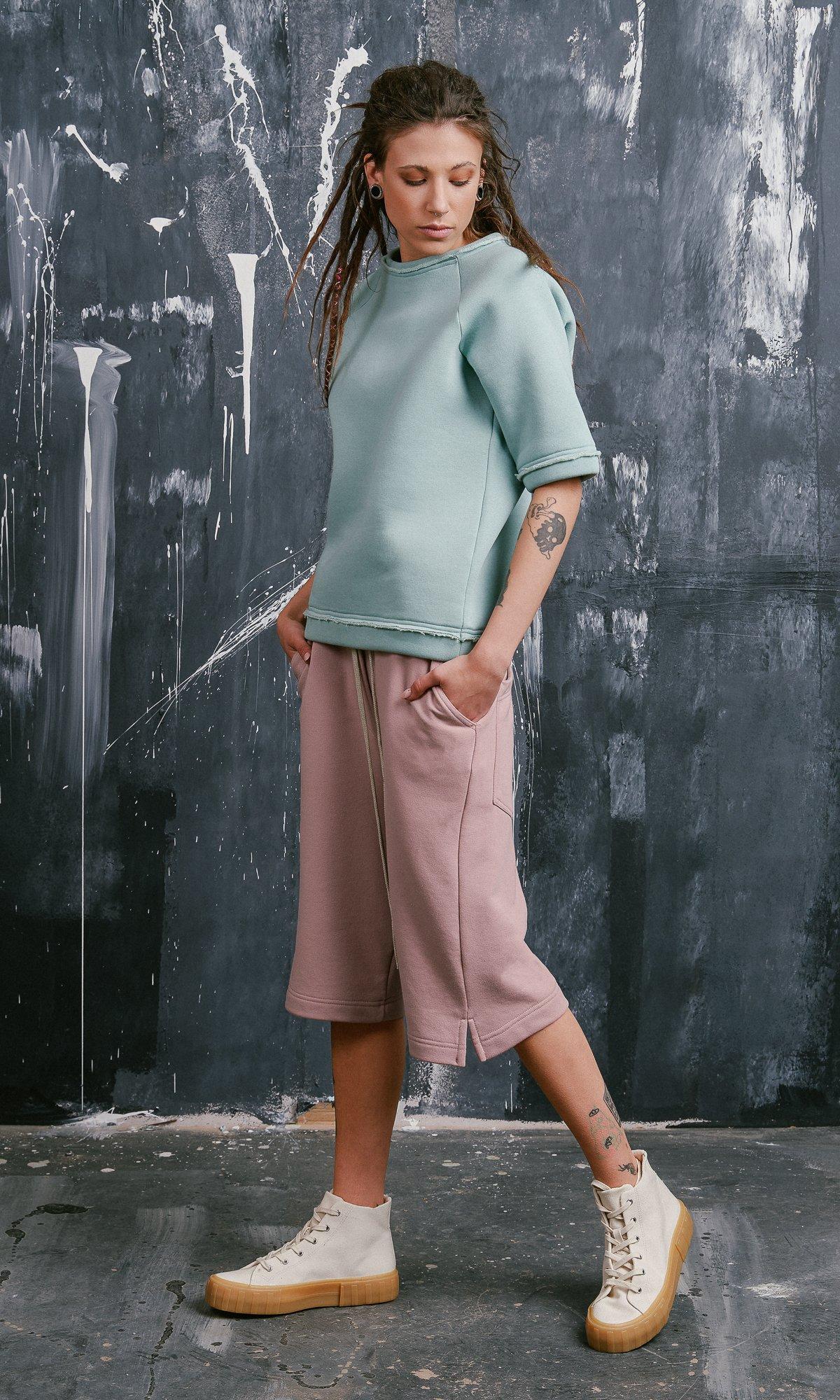 Knee Length Cotton Shorts