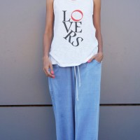 Extravagant Lovers Print Tank Top