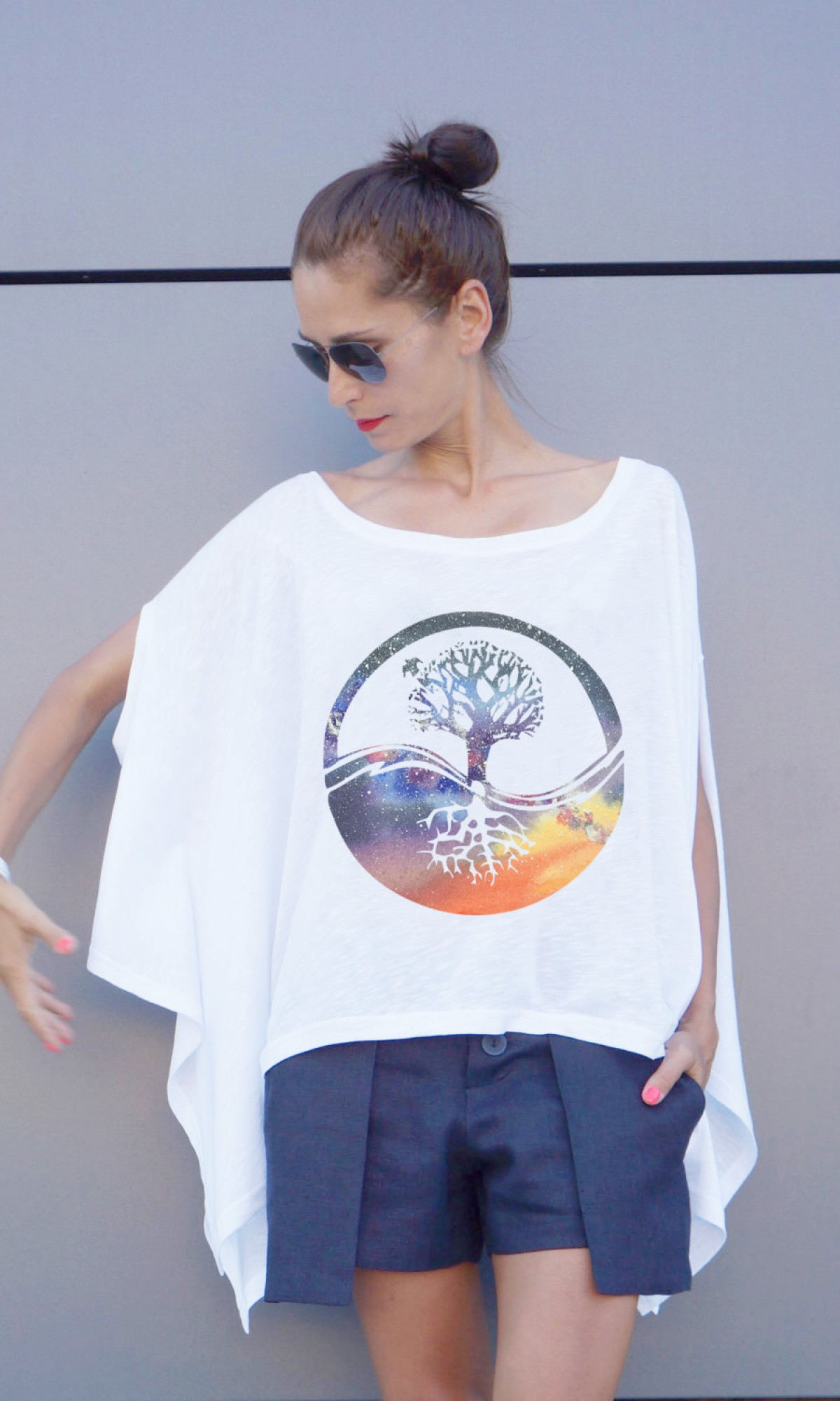 Loose Tree of life print tunic A124510346