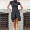 Dresses - Sexy Black Tunic Dress A03493