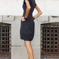 Dresses - Sexy Black Tunic Dress A03493