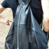 Bags - Genuine Leather Black Backpack A27472