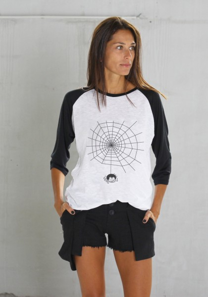 Halloween Black&White Print T-shirt A224010356