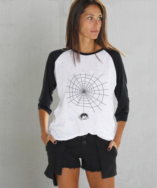 Halloween Black&White Print T-shirt A224010356