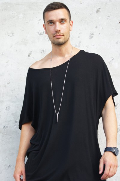 Soft Black Tencеl Top A02243M